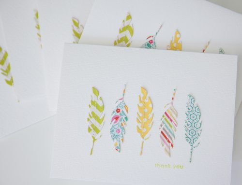 Thank you card | feather die